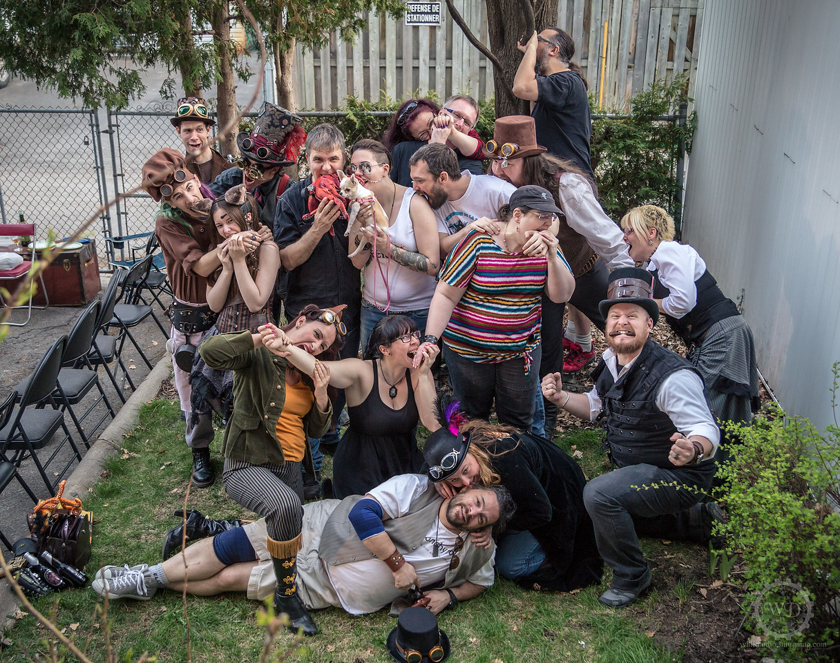 Steampunk Montreal BBQ group portrait