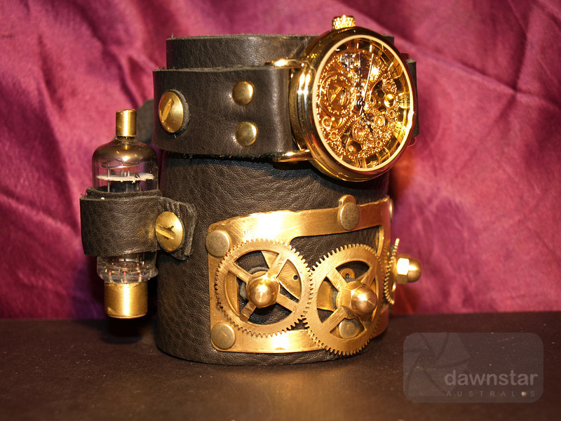 Steampunk watch/wristband made by handmadeart.olga on eBay.com<br /> <br /> This is incredibly hard to take a picture of
