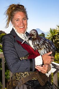 Bridget Palmer with Kiwi
