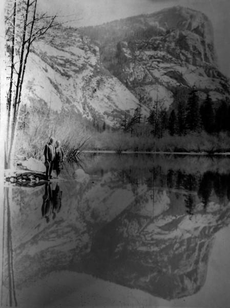 Arthur & Anna B Stebins Mirror Lake Yosemite CA 1930