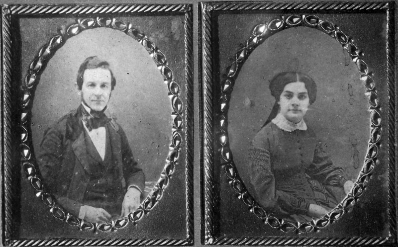 Francoise Rene Stebbins & S Louise Briggs Stebbins taken about 1853 from Fred Briggs Stebbins 1898