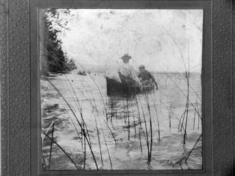 DSCN2473 Arthur C Stebbins & Charles Woodbury on Lake Anne or Au Sable River Michigan