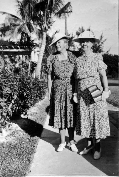 Marie Windsor & Anna Burgoyne Stebbins Miami Beach Fl 1959