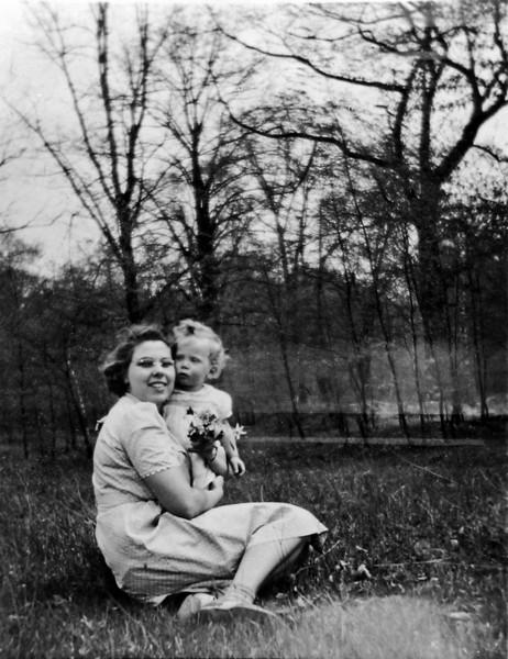 Mable & Jackie Burgoyne Freeland Mich April 1942