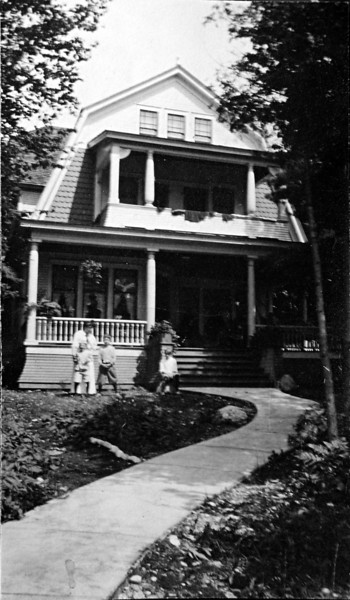 Marie & George Stebbins & Bud Kellogg - Roaring Brook August 1914-sharpened