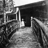 Rowland Stebbins 1905 bridge to Barr Cottage (burned 1930) Roaring Brook