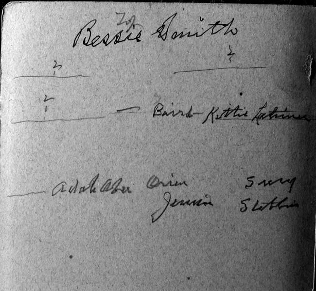 Bessie Smith & Adah Aber et all  Grand Ledge Mi flip side