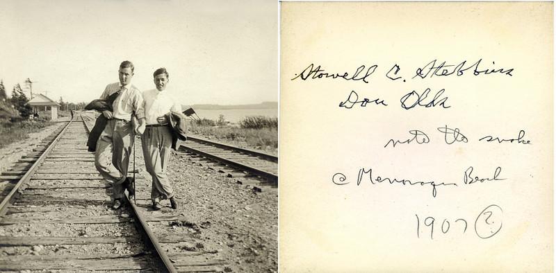 ao Stowell Stebbions & Don Olds Menonaqua Beach Train Station Book #43 PSed JPEG