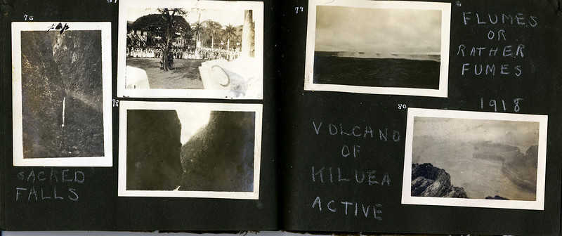 au Sacred Falls & Volcano of Kiluea 1918