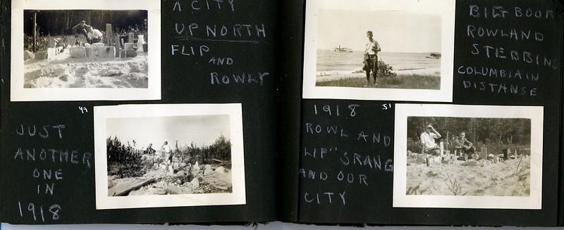 an Flip Sprang  & Rowland Stebbins make cities & Columbia going past Roaring Brook