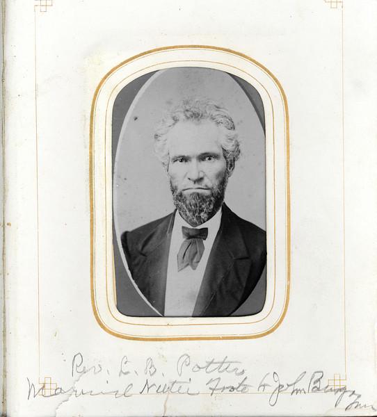 Rev L B Potter Married Nettie Foote to John Burgoyne