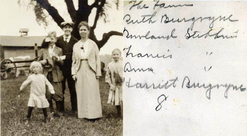 The farm Ruth Burgoyne & Rowland & Francis & Anna B Stebbins & Harriet Burgoyne