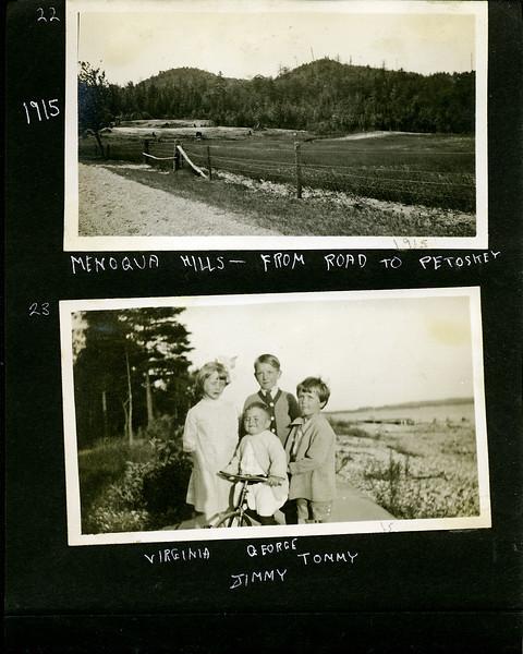 an Menonaqua from Petosky road & Virginia & Jimmy & Tommy -&- Geroge Stebbins