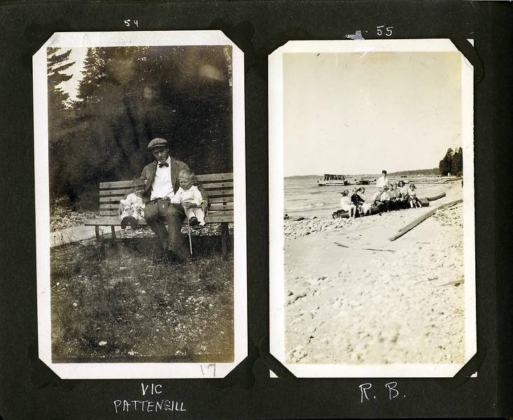 bd Vic Pattengill & Roaring Brook kids wtih dock 1914-ish