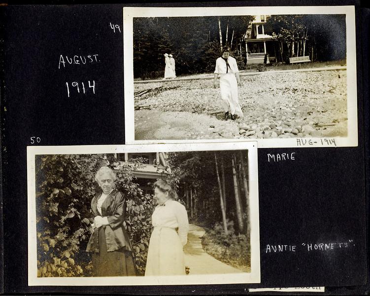 ba Marie W Stebbins & Auntie Hornets august 1914