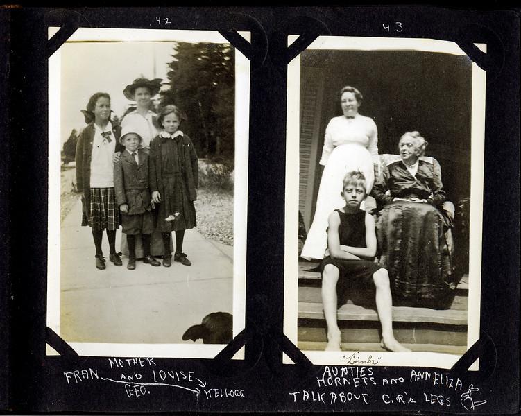 aw Anna B & George & Rowland Stebbins & Fran & Louise Kellogg & Aunt Hornets & Ann Eliza