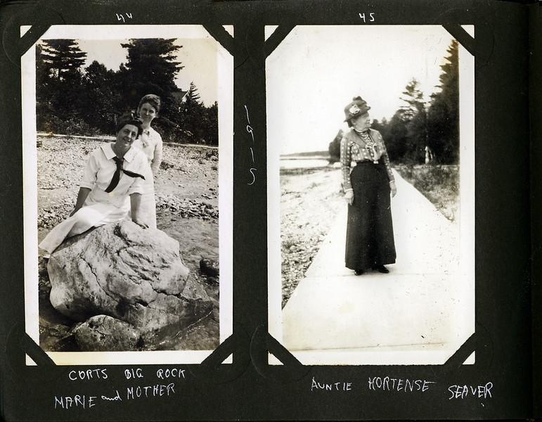 ax Marie & Anna B Stebbins & Aunte Hortense Seaver at Roaring Brook