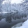 Lierelva, vinter<br /> Linnesstranda, Lier 8.12.2018<br /> Canon 5D Mark IV + EF 17-40mm f/4L USM @ 19 mm