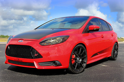 After the show the Focus ST was back at work on track and in the Steeda factory continuing to develop upgrades