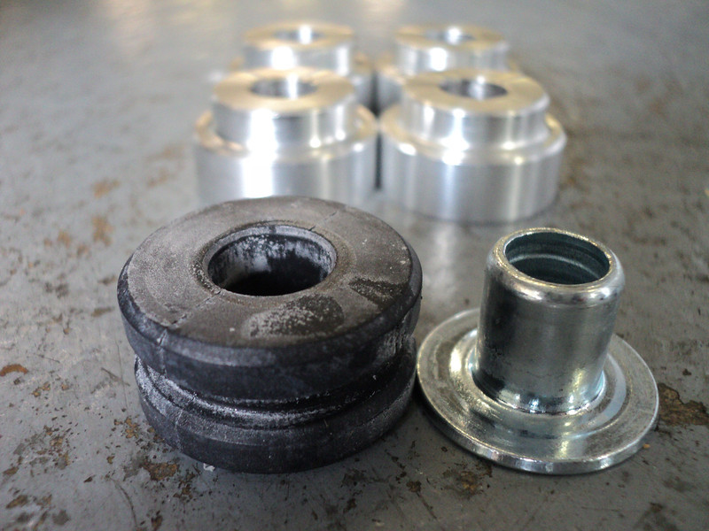 OEM shifter bushings vs Steeda Billet Shifter Bushes. Swap even on your OEM shifter for increased shift firmness and accuracy, or add to the Steeda short shifter for the ultimate in Fiesta quickshifting.