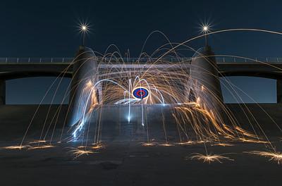 Spinning wool at the Sepulveda Dam