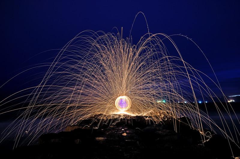 Steel Wool orb, El Porto Beach