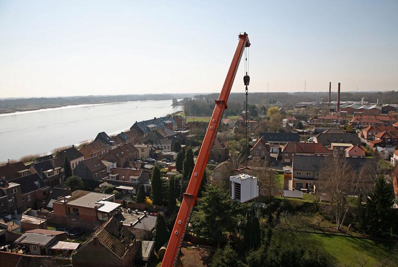 Steendorp vanop de kerktoren - Richting Temse