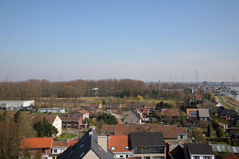 Steendorp vanop de kerktoren - Richting Rupelmonde