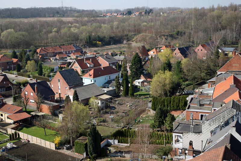 Steendorp vanop de kerktoren - Gelaagpark, Roomkouter en Fort