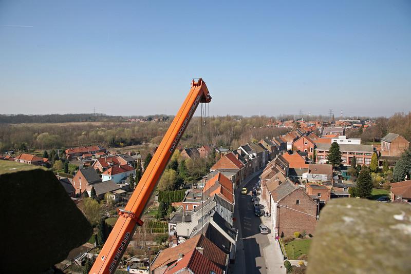 Steendorp vanop de kerktoren - Gelaagstraat