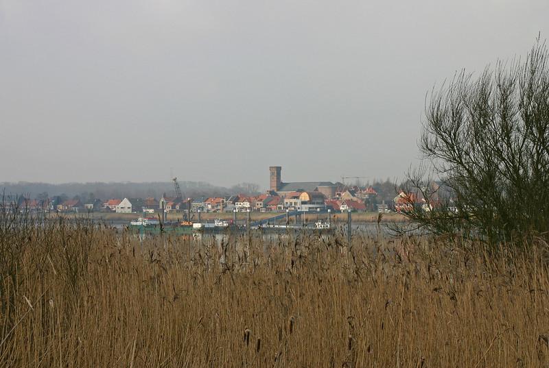 Steendorp (vanop de dijk in Hingene - 2009)