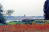 Steendorp - zicht vanop de dijk in Hingene.<br /> Genomen voordat de nieuwe dijk werd aangelegd.  De Belgomine is hier nog in gebruik (silo's en kraan)