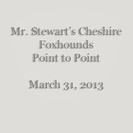 0001 - Mr  Stewart's Cheshire Foxhounds Point to Point - March 30, 2013