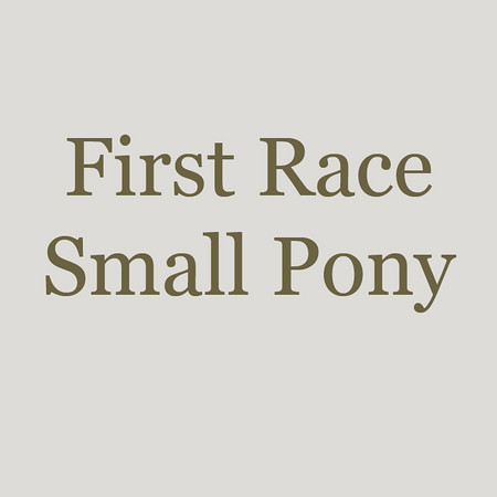 0001 - 1 - First Race - Small Pony - 01