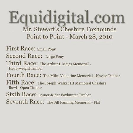 Cheshire Point to Point Program