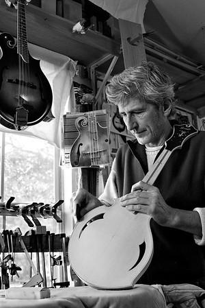 Stephan Passernig, artisit and mandolin maker.