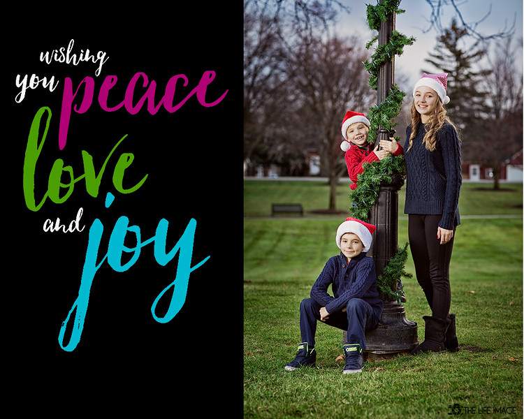 Stefanczyk peace love and joy photo card 1