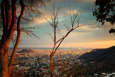 Sonnuntergang über Graz