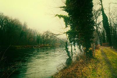 Grenzfluss bei Mureck