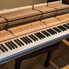 I'd never seen the keyboard completely removed from the piano frame before. I love that you can see the handmade details and numbering on the Steinway.