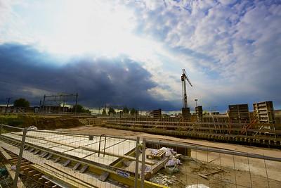 Momentopname van de werkzaamheden op station Zutphen die Van Dongeren op de voet volgt.