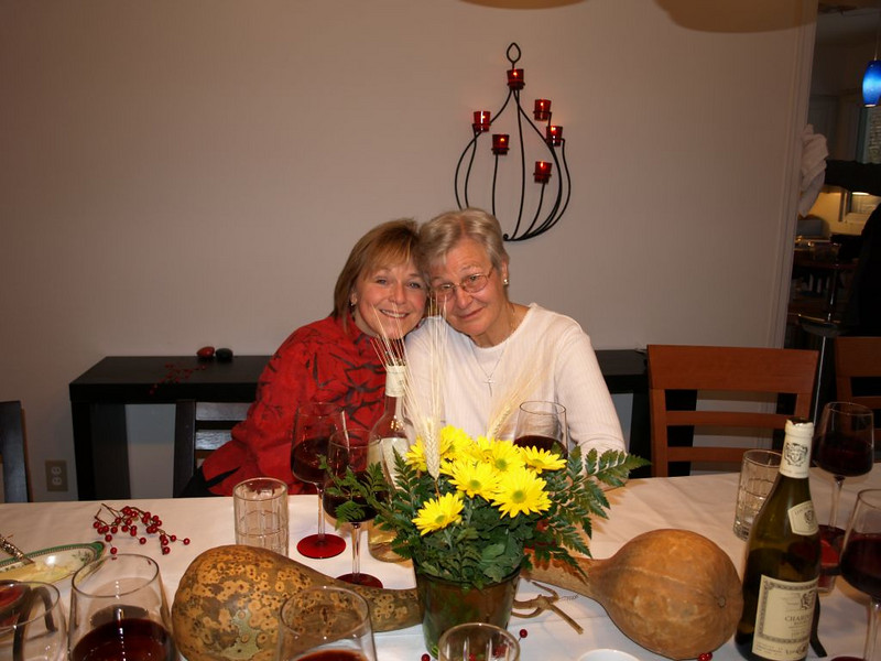 Anna Mae and Ruth after Thanksgiving dinner.