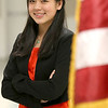 Stephanie Tam, 16, a Tewksbury Memorial High School junior is a finalist in the national VFW Voices of Democracy audio-essay program. SUN/JOHN LOVE
