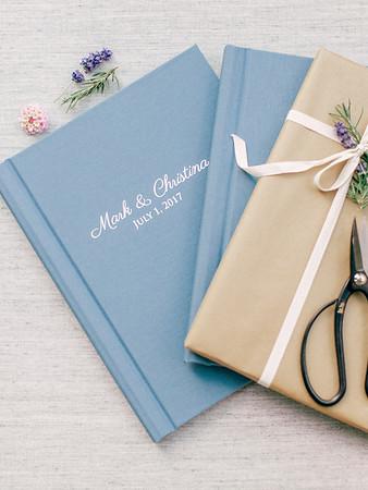 Blue Linen Heirloom Book