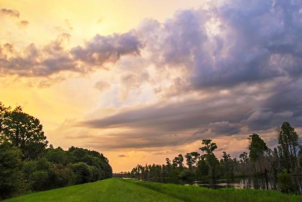 Sunset on the Sill Okefenokee Swamp