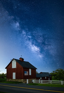 A view of the Milky Way during a crisp spring night along the Snickersville Turnpike near Bluemont, Virginia