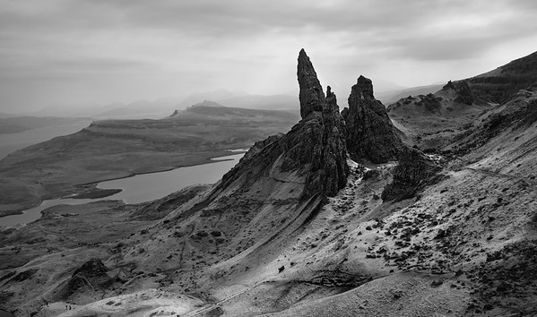 View of Old Man of Storr on the Isle of Sky, Scotland.