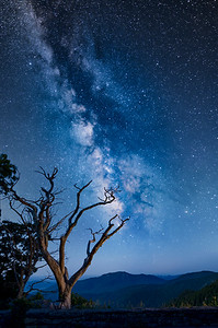 Milky Way over Old Rag Mountain from Skyline Drive in the Shenandoah National Park, 19 June 2021