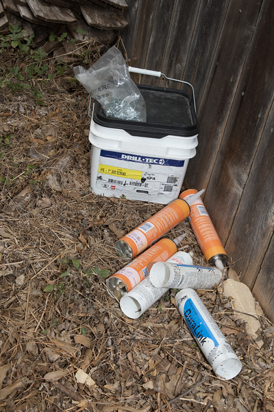 More trash left behind near my fence