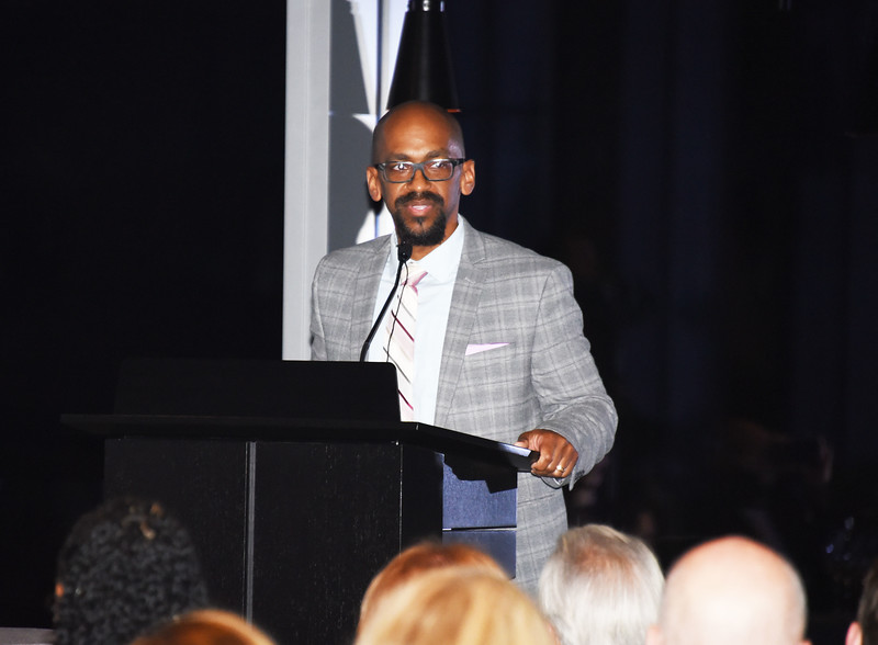 Dr. Sean Vereen, President of Steppingstone Scholars, Inc. at Steppingstone Unplugged: 20th Anniversary Celebration and Fundraiser.